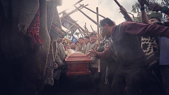 Funeral de Camilo Catrillanca (Foto: Luis Hidalgo).
