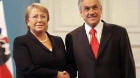 La puerta giratoria de Piñera y Bachelet