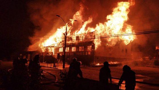 Panguipulli en llamas