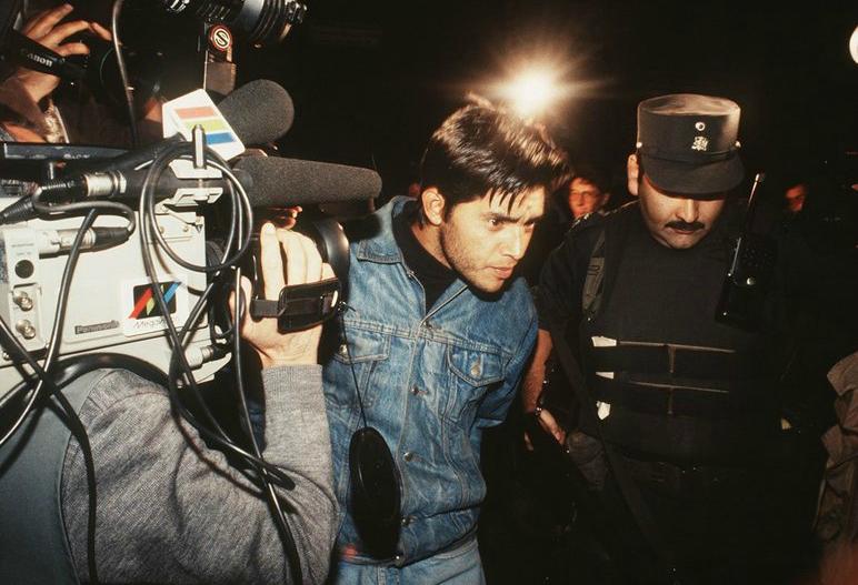 """Ricardo Palma Salamanca (""""El Negro""""), detenido por Investigaciones en 1992. Se fugó en helicóptero desde la cárcel de Alta Seguridad, junto al """"comandante Ramiro"""", en 1996."""