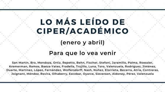 Lo más leído de CIPER Académico entre enero y abril