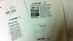 Caso Pinochet: Cancillería burla resolución del Consejo para la Transparencia entregando recortes de prensa